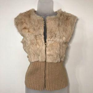 Arden B Faux fur vest, size Medium